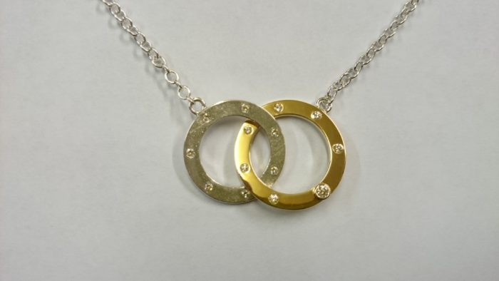 Double Loop Diamond Necklace