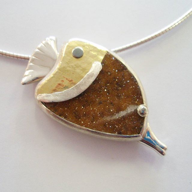 Gold and Silver Agate Fish