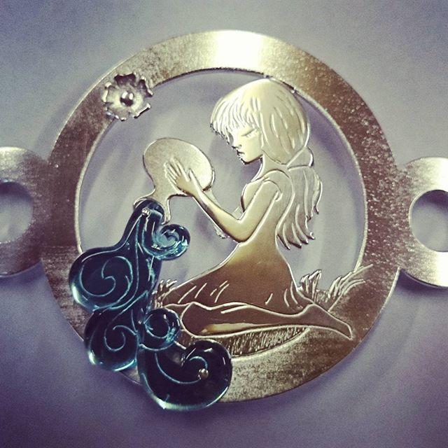 Silver Aquarius Belt Buckle