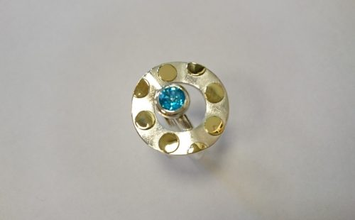 Topaz 18ct Gold and Silver Ring